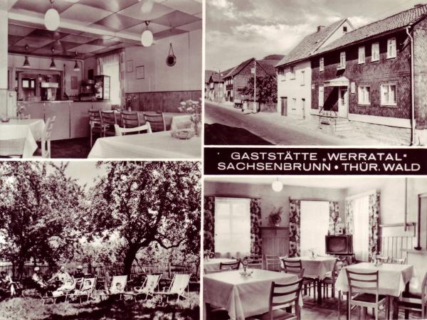 Postkarte mit Gasthaus Zum Werratal